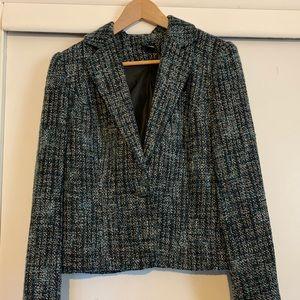 Vintage plaid pattern blazer